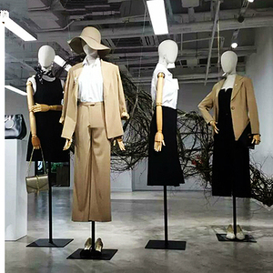 1pcs Lady mannequins Linen fabric fashion dress Upper-Body woman model with arm for clothes cosmetology window Display