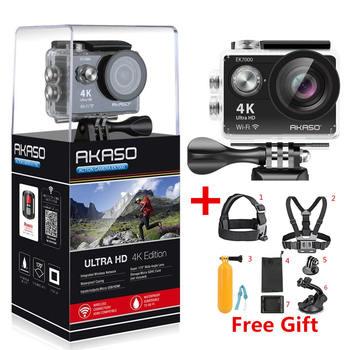 AKASO EK7000 4 k WIFI Macchina Fotografica di Azione di Sport Esterno Ultra HD DV Impermeabile Videocamera 12MP Estremo Subacquea 1080 p 60fps video Cam