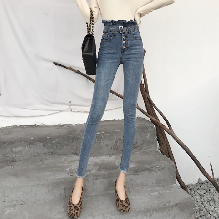 Cheap Wholesale 2019 New Spring Summer Autumn Hot Selling Women's Fashion Casual  Denim Pants BW51