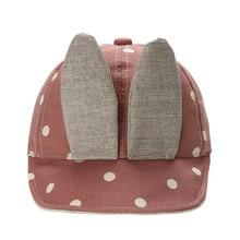 1 pcs Baby Baseball Caps Rabbit Ears Denim Baseball Cap Baby Child Sun Hat Hip Hop Kids Children's Hats