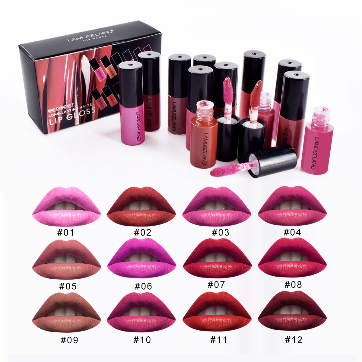 Travel Kit Long-Lasting Waterproof Lipstick Matte Mini Lip