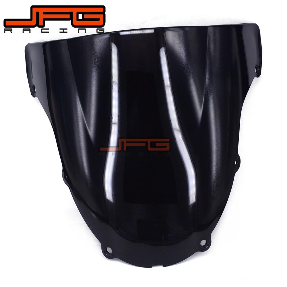 Black Windscreen Windshield for Kawasaki ZX6R ZX-6R ZX 6R ZX636 2003-2004 2003 2004 kawasaki zx 6r 636 zx 10r 12r 9r gtr1400 изменение рука дроссельной ручки резиновый рукав