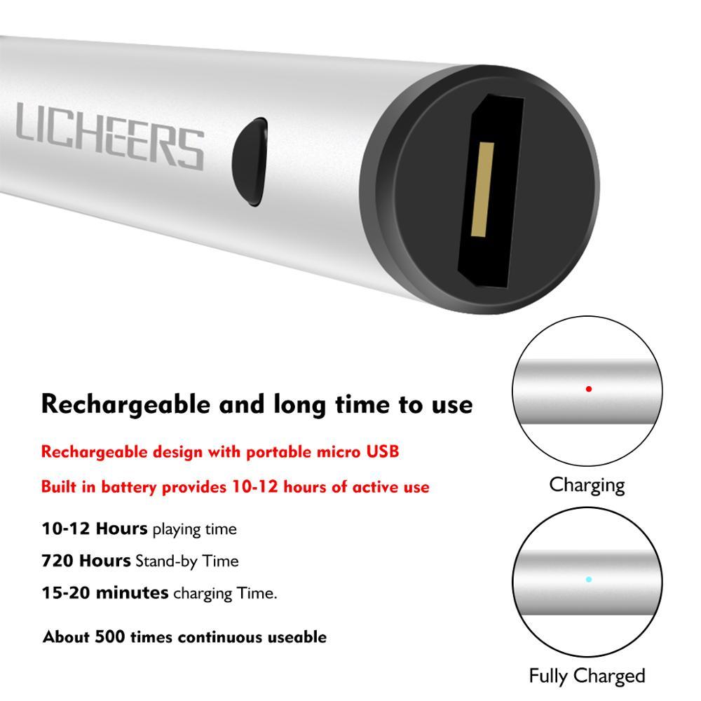 lingchen  Auto Sleep adjustable micro USB charging metal stylus Touch Pen 2