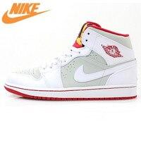 Nike Air Jordan 1 Mid заяц AJ1 Багз Банни Для женщин Баскетбольные кеды Спортивная обувь, Открытый исходный удобные Обувь 719551 123