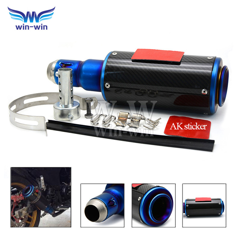 hot selling Motorcycle carbon fiber  exhaust  pipe muffler  For Yamaha YZF-R1 2004 2005 2006 2007 2008 2009 2010 2011 2012 2013