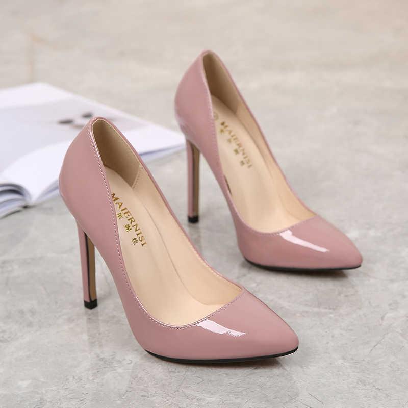 f5e7bc5dcb ... MAIERNISI New Fashion High Heels Women Pumps Thin Heel Classic Sexy  Prom Wedding Shoes Office Women ...