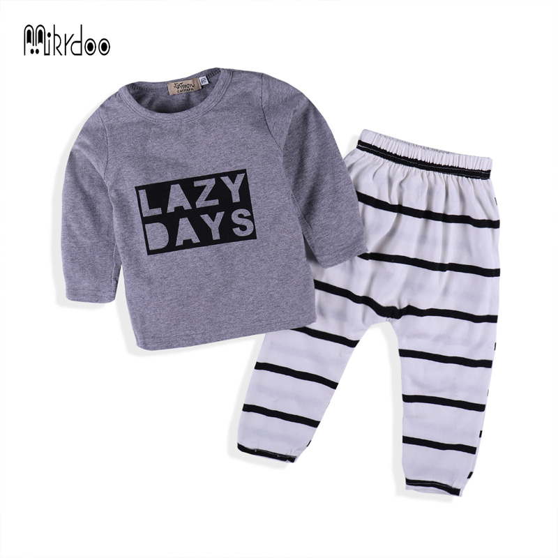 Baby Boy Clothes spring 2018 Newborn Baby Boys Clothes Set Cotton Baby Clothing Suit (Shirt+Pants) Infant casual sport Set 2018 spring newborn baby boy clothes gentleman baby boy long sleeved plaid shirt vest pants boy outfits shirt pants set