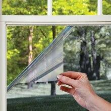 70/80/90 by 500 Cm VLT10% Black Silver Reflective One Way Mirrored Window Film Sun Blocking Privacy Vinyl eat Control Glass Tint