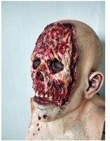 0230037 mask,masks,horror,scary,zombie,masquerade,latex,halloween decoration,skull,terror,depredador,mascara,alien,party,masker