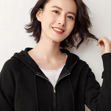 2019 spring new hooded sweater women hoodie wool sweater zipper hooded cardigan female small outwear coat(China)