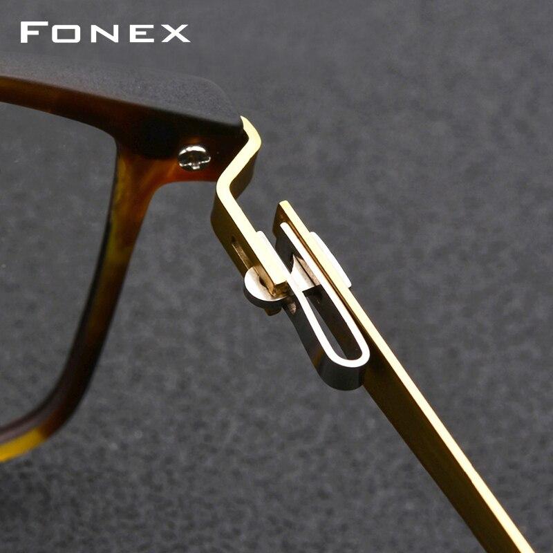 Montura de gafas de aleación de titanio TR90 montura de gafas de ojo de miopía para hombre 2019 marcos ópticos coreanos sin tornillos gafas 9855 - 4