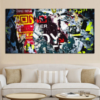 Big Size HD Print Banksy Graffiti Street Pop Art Wall Abstract Oil Painting On Canvas Poster