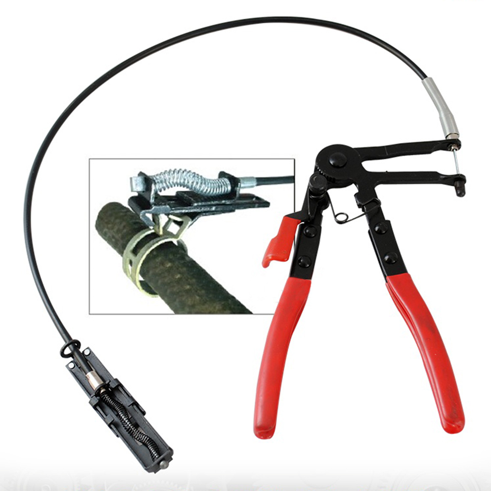 Auto herramientas del vehículo tipo de Cable alambre Flexible largo alcance abrazadera Alicates para las reparaciones del coche abrazadera eliminación herramienta alicate