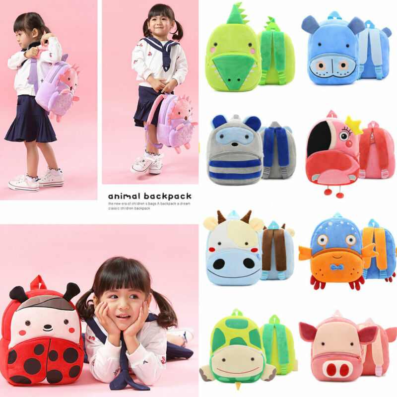 Fashion Baby Toddler Kid Child Mini Animal Backpack Cartoon Grils Boys Plush Casual Kindergarten Schoolbag Shoulder Bag