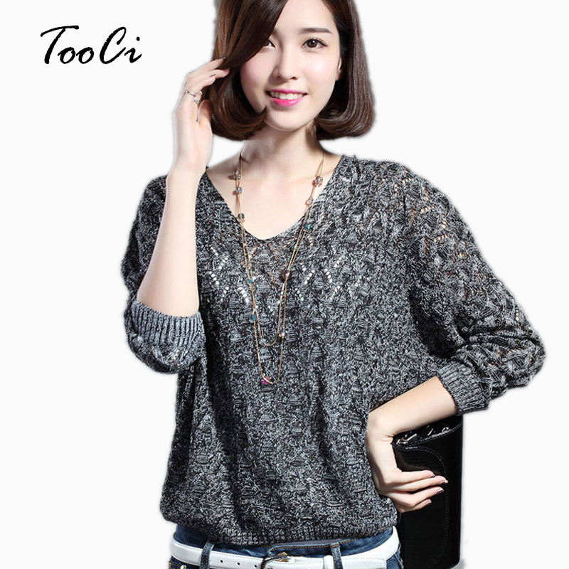 Women Pullovers  Lady Bat Sleeve Casual Hollow Out Transparent Thin Sexy Sweater