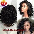Frontais Rendas com o Cabelo Do Bebê sintético Barato Sintético Curto Meia peruca para As Mulheres Negras Bob Lace Wig Natural Loja Livre grátis