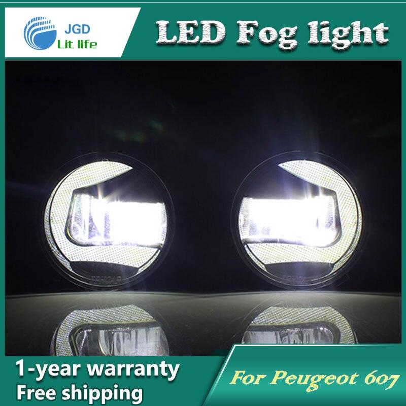 Супер Белый светодиодными фарами дневного света чехол для Peugeot 607 DRL свет бар парковка автомобилей Противотуманные фары 12 В DC фара