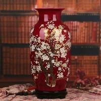 Jingdezhen ceramics glaze crystal rose ten two hi Higashiuri French Chinese Home Furnishing decoration decorative vase