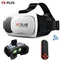 HD VR 3.0 VR Плюс Кожаный Шлем Виртуальной Реальности 3D очки vrbox Pro Покрытием Стеклянные Линзы Гарнитура для 4-6 'Mobile Телефон