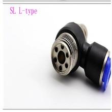 SL6-01/SL8-M5/SL4-02/SL10-03/SL12-01 pneumatic joint L-type throttle adjustable speed control valve