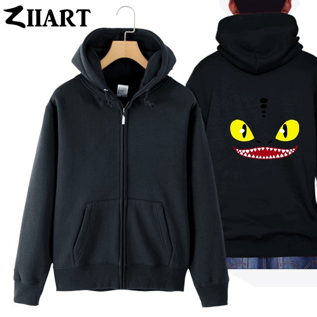 Smilery toothless hiccup night fury how to train your dragon man smilery toothless hiccup night fury how to train your dragon man cotton full zip hoodies ccuart Images