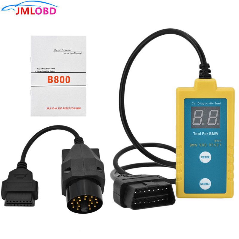 B800 SRS Reset <font><b>Scanner</b></font> <font><b>OBD</b></font> Diagnostic Tool for BMW Car Vehicle Airbag Car Electronic Repair Tool B800 Airbag Scan Free Shipping image