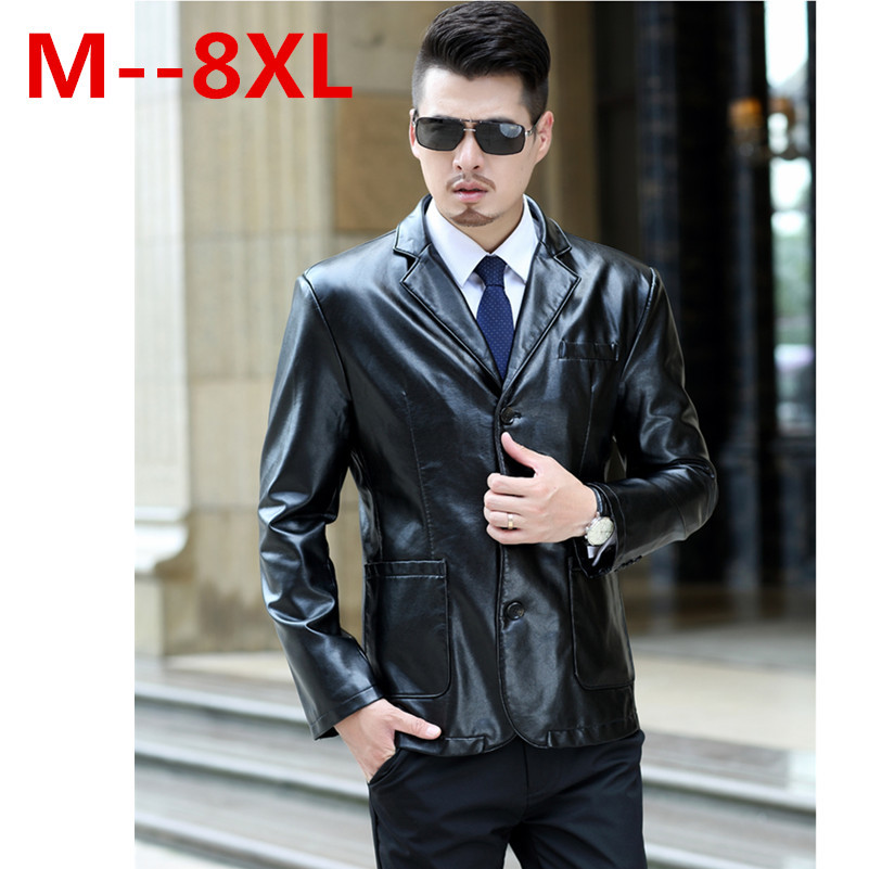 Plus size 9XL 8XL 7XL 6XL 5XL Winter Autumn Brand PU Leather Jacket Men Motorcycle Leather Jackets Overcoat Jaqueta High Quality