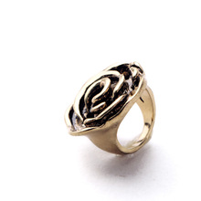 Hot Selling Personality Engrave Rose Floral Ring Fashion Women Boutique Jewelry Manufacturer Factory Custom Wholesale