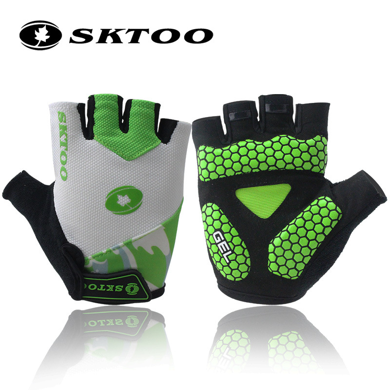 SKTOO sports half finger cycling gloves bike bicycle gloves for men women guantes ciclismo bycicle accessories 2018 summer cycling gloves half finger men women breathable sports bicycle bike motorcycle gloves anti slip guantes ciclismo m l xl