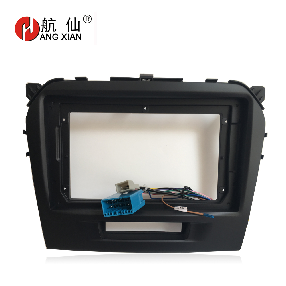 HANGXIAN 2 Din Car Radio Fascia frame for Suzuki Grand Vitara 2016 car DVD player Panel