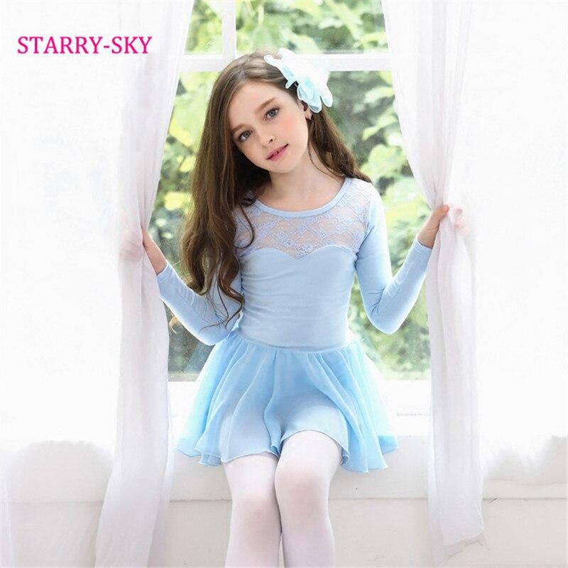 a44e301de94f New Autumn Winter Ballet Dress For Girls Long Sleeve Children Ballet ...