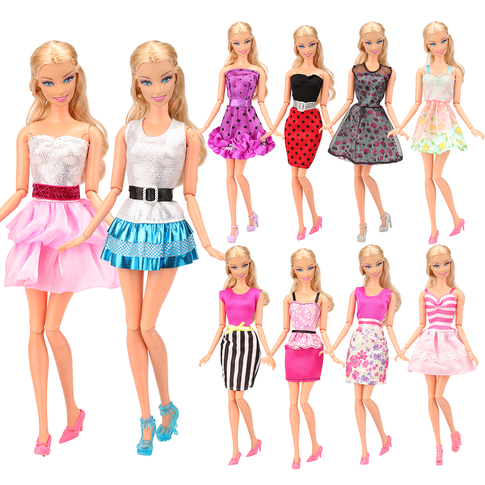 20-piece Doll Dresses Clothes 5 Handmade Dress /& 10 shoes for 11.5 inches Doll
