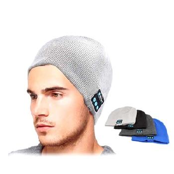 U bitบลูทูธหูฟังหมวกสำหรับiPhoneซัมซุงโทรศัพท์A Ndroidผู้ชายผู้หญิงฤดูหนาวกลางแจ้งกีฬาบลูทูธสเตอริโอเพลงหมวกไร้สาย