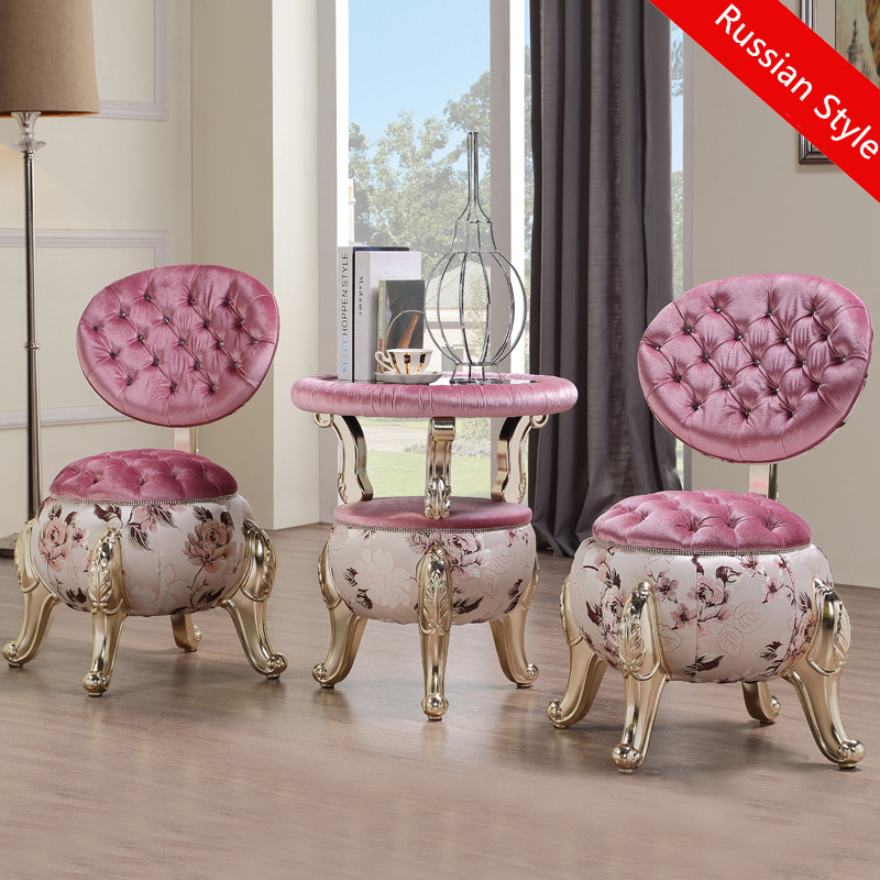 Russian leisure ottoman single <font><b>sofa</b></font> 3pcs a set fashion balcony tables and 2 chair bedroom leisure chair coffee table combination