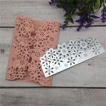 Flower Floral Edge Border Cutting Dies Stencil DIY Metal Scrapbooking Card Paper Craft Embossing Folder Template