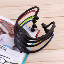 New 1pcs Fashion Earphone Sports MP3 WMA Music Player  Handsfree Headset with TF Card Slot DropShipping Wholesale