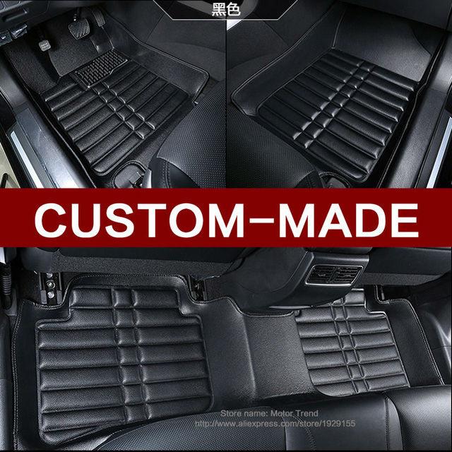 Custom Fit Car Floor Mats For Ford Edge Escape Fusion Mondeo Ecosport Explorer Focus Fiesta Car