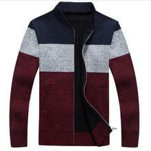 New Arrivals Autumn Winter Men's Cardigan Sweaters Mandarin Collar Casual Clothes For Men Zipper Sweater Warm Knitwear Sweater