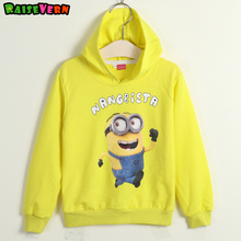Children Sports Casual Sweater Cute Kids Clothing Yellow Cartoon Hoodies Sweater Boy Girl Cotton Clothes