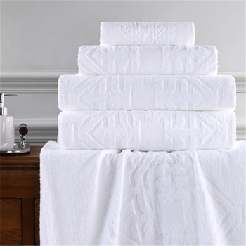 820g  Five-star hotel bath towel pure cotton adult thickening jacquard bath towel