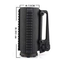 Black Tactical Military Multifunction Aluminum Detachable Carry Battle Rail Mug Cup
