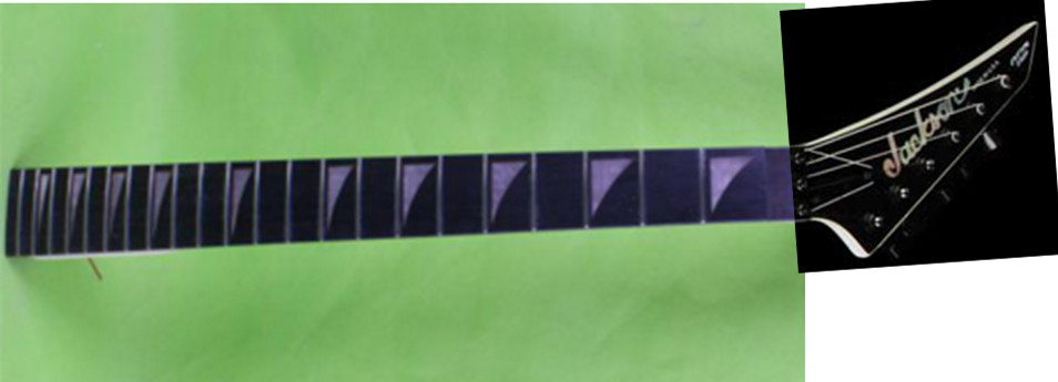 22 frets holt on left   One electric guitar neck maple wood  and ebony  fingerboard 171#