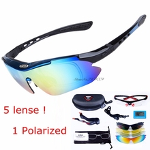 Tactical Goggles Airsoftsports Sun Glasses Outdoor Sports Bicycle Bike Sunglasses 5 Lens Uv400 Polarized Myopia Cycling