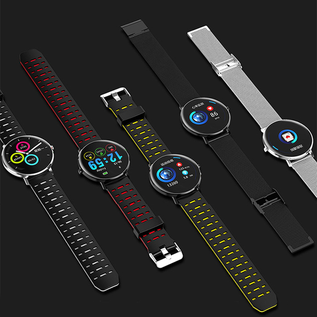 L6 Smart Watch IP68 Waterproof Android IOS Smartwatch Wristband Blood Pressure Heart Rate Monitor Wearable Devices