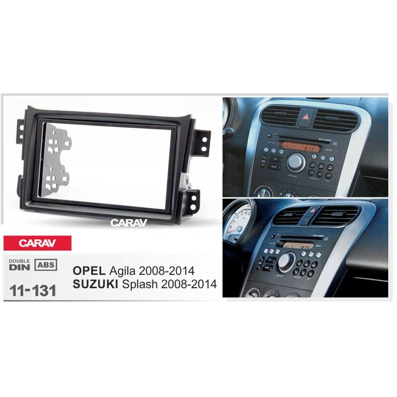 Suzuki Splash Ritz 2008-2012 UGAR 11-131 Doppio Kit di Montaggio Kit Fascia radio compatibile con Opel Agila 2008-2014