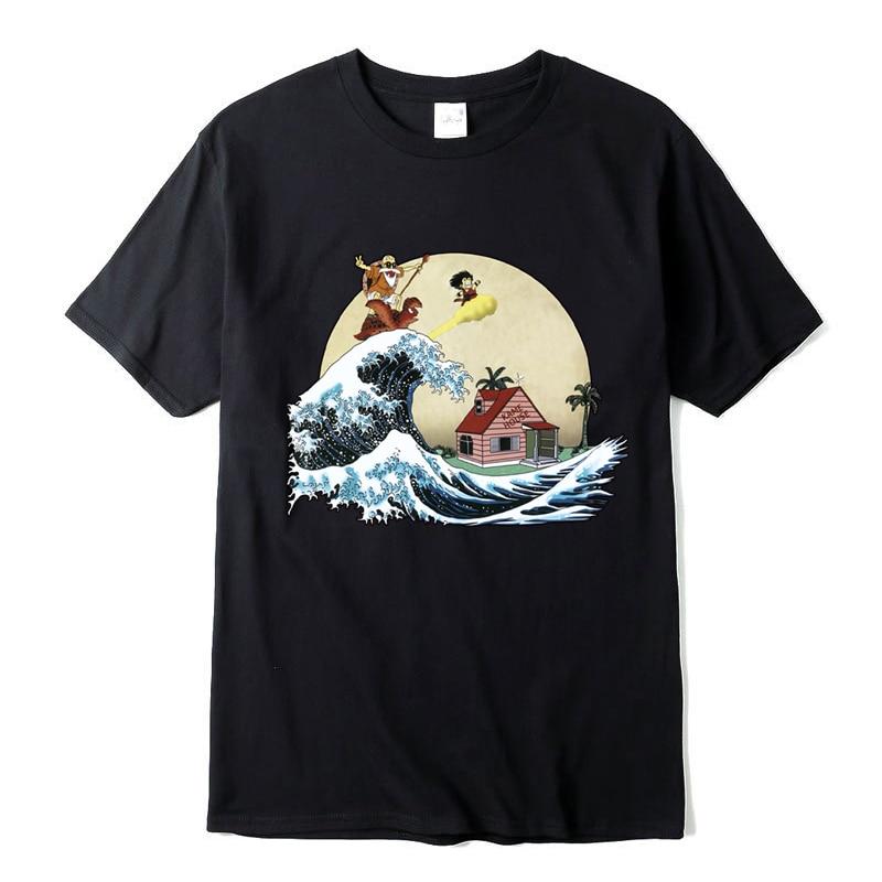 100% Cotton T-shirt High Quality Fashion Casual Dragon Ball Z Goku Print T Shirt Men Harajuku Brand Clothing Tshirt