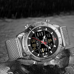 Image 5 - Luxury Brand NAVIFORCE Men Watch Analog Digital Watches Mens Stainless Steel Sport Waterproof Wristwatch Relogio Masculino 2020