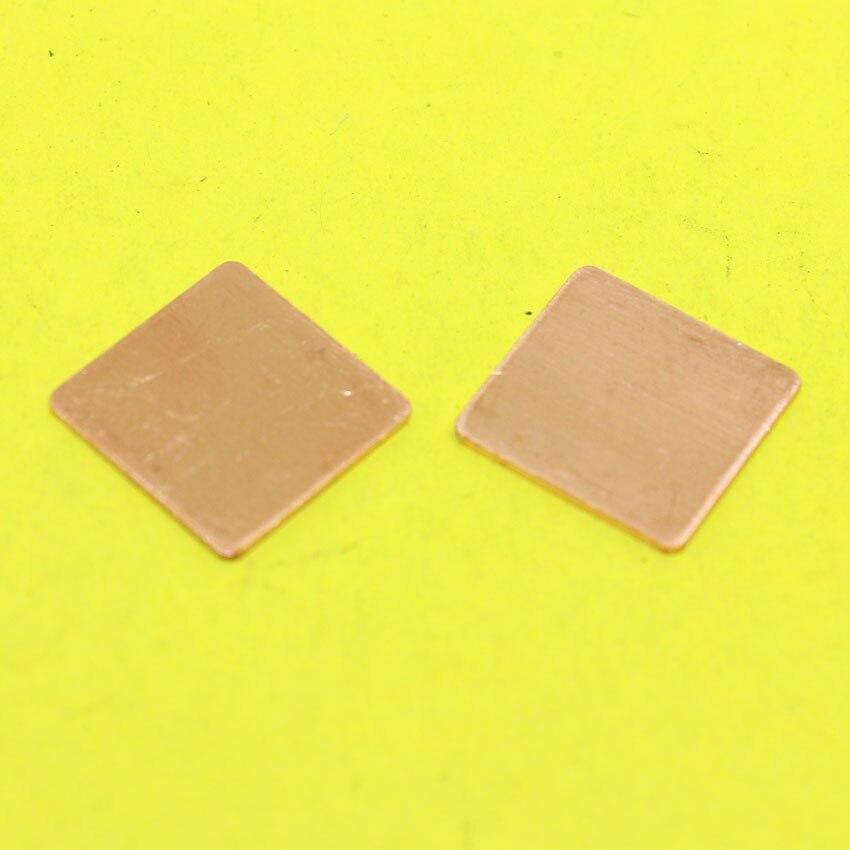 Tl-098 15x15x0.8 мм DIY Медь прокладку радиатора Термальность Pad радиатор Простыни для ноутбука GPU Процессор vga чип Оперативная память охлаждения Cooler