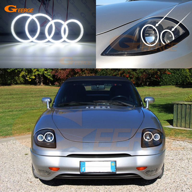 For Fiat Barchetta 1995-2005 Excellent Angel Eyes Ultra bright illumination smd led Angel Eyes kit DRLFor Fiat Barchetta 1995-2005 Excellent Angel Eyes Ultra bright illumination smd led Angel Eyes kit DRL