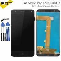 Para Alcatel Pop 4 lcd 5051 5051D 5051X 5051J 5051M OT5051 pantalla LCD con Digitalizador de pantalla táctil montaje de panel + herramientas